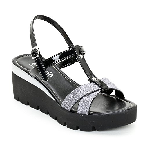 Zeppe amp;scarpe Donna Estradà Scarpe Nero EAqT6wx1