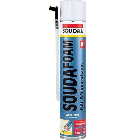 """Soudal 101351 """"SOUDAFOAM B1"""" relleno de espuma de poliuretano, blanco ..."""