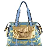 Ed Hardy Galactic Rock Mercury Shoulder Tote – Blue, Bags Central