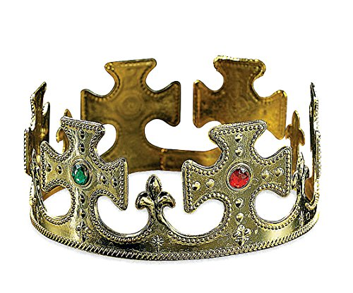 [OliaDesign Plastic Jeweled Gold Crown (6 Pieces)] (Crown Royal Girl Costume)