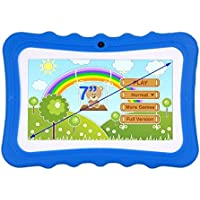 MonkeyJack 7 Kids Children Learning Tablet Android4.4 Dual Camera for Early Education Blue