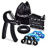 GALAROES Hand Grip Strengthener Forearm Grip Workout Kit Adjustable Hand Gripper Finger Exerciser...