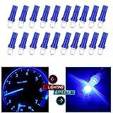mitsubishi 3000gt speedometer - CCIYU 20 Pack Blue 37 58 70 73 74 T5 Diode LED Chips Dashboard Panel Gauge Cigarette lighter Ashtray light Speedometer Odometer Tachometer Instrument Panel LED Wedge Bulbs