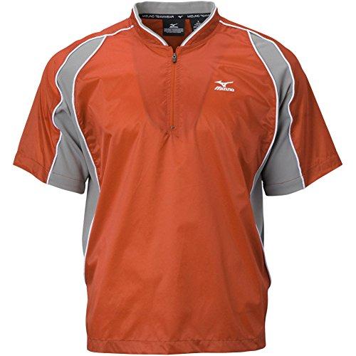 Mizuno Protect Batting Jersey, Orange, X-Large