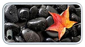 Hipster for cheap iPhone 4S covers black stones leaf TPU White for Apple iPhone 4/4S