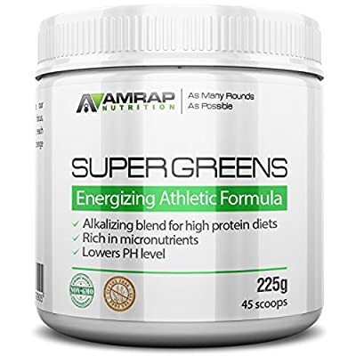 AMRAP Nutrition - Organic Supergreens Powder - Blend of 11 Super Green Juices to Increase Stamina, Strengthen Immune System and Maintain Healthy PH Levels - Rich in Micronutrients
