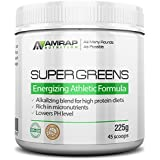 Organic Super Greens Powder | AMRAP Nutrition - Energizing Blend For Renewed Health & PH Balance