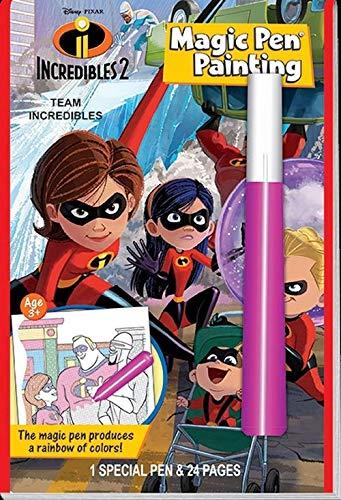 Lee Publications Magic Pen Painting: Disney Pixar Incredibles 2 - Team Incredibles