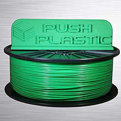 Push Plastic 1.75mm Green PLA 3D printer filament 1kg (2.2 lbs) USA MADE