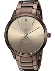 Kenneth Cole New York Mens Quartz Stainless Steel Casual Watch, Color:Brown (Model: KC15111008)