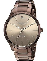Men's Quartz Stainless Steel Casual Watch, Color:Brown (Model: KC15111008)