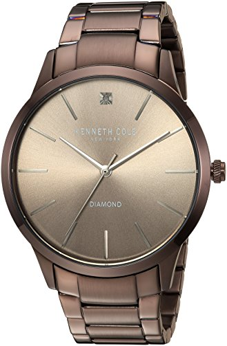 Kenneth Cole New York Men's Quartz Stainless Steel Casual Watch, Color:Brown (Model: KC15111008)