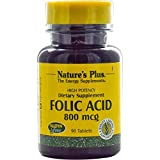 Nature's Plus, Folic Acid, 800 mcg, 90 Tablets by Nature's Plus