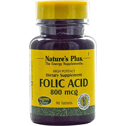 Nature's Plus, Folic Acid, 800 mcg, 90 Tablets by Nature's Plus by Nature's Plus