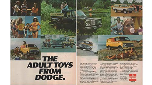 "Magazine Print Ad: 1977 Dodge Ramcharger, Street Van, Warlock, Adult Toys from Dodge"", 2 pages"