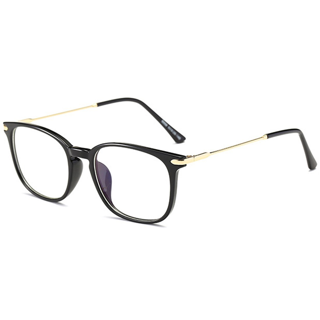 Rnow Vintage Anti-Reflective Anti-Glare Anti-Blue Rays Sunglasses Blue Tinted Lens Computer Gaming Eyeglasses