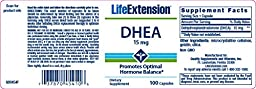 Life Extension DHEA (Dehydroepiandrosterone)   15 mg 100 capsules ( Multi-Pack)