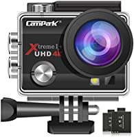 Campark 4K WiFi Action Camera 30M Underwater Camera 16MP Waterproof Sports Camera