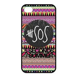iPhone 4 / 4S Case, 5sos TPU Rubber Gel Phone Case