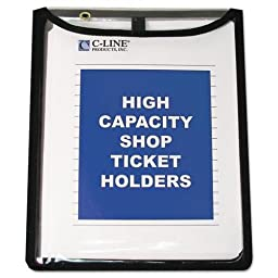 C-Cline 39912 Shop Ticket Holders, Stitched, Both Sides Clear, 9 x 12, 15/BX