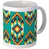 CafePress - Native American Design Turquoise Mugs - Unique Coffee Mug, Coffee Cup