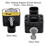 APDTY 601325 Airbag Impact Crash Sensor Fits Front Left or Right Models With RPO Code HVY 2001-2002 Chevrolet Silverado or GMC Sierra Pickup (Radiator Support Mounted; Replaces GM 15070580)