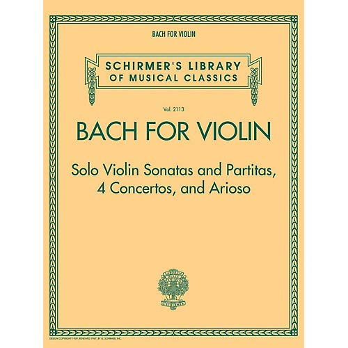 - Bach for Violin - Sonatas and Partitas, 4 Concertos, and Arioso String Solo Series Softcover Pack of 2