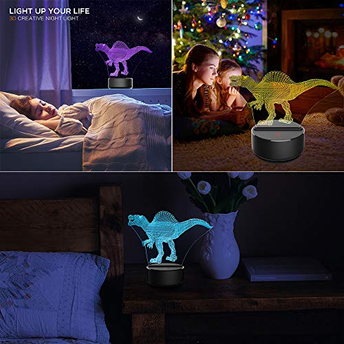 Used, Dinosaur Toys Night Lights for Kids 7 Colors Changing for sale  Delivered anywhere in USA