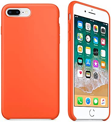 new concept 4bfc0 4c963 Keklle iPhone 7P/8P Silicone Case, Keklle Liquid Silicone Gel Rubber  Shockproof Case and Ultra Soft Microfiber Cloth Lining Cushion for iPhone  7P/8P ...
