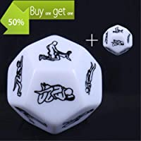 KaiKBax Fashion Beautiful Exotic 12 Romantic Party Dice Game Novelty Gift for Warm up Dices 12 Sides Positions Dice for Couples PerfectGift