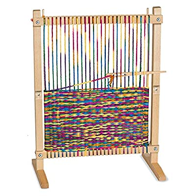 Melissa & Doug Wooden Multi-Craft Weaving Loom (Arts & Crafts, Extra-Large Frame, Develops Creativity and Motor Skills, 41.91 cm H x 57.785 cm W x 24.13 cm L): Toys & Games