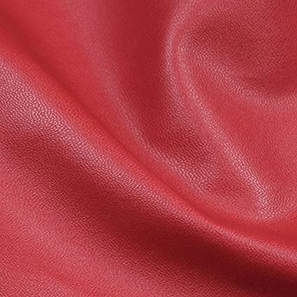 Red Colour Faux Leather Vinyl Upholstery Fabrics Material PVC PU Leatherette