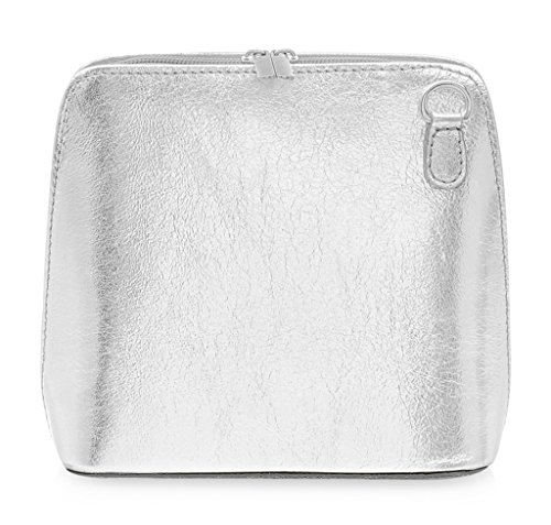 Handbag or Tan Bag Body Small Italian Genuine Shoulder Leather Silver Cross PXSYwxT