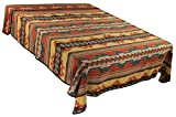 Splendid Exchange Southwestern Bedding Bonita Collection, Mix and Match, Queen/Full Size Reversible Bedspread, Bonita Rust and Green
