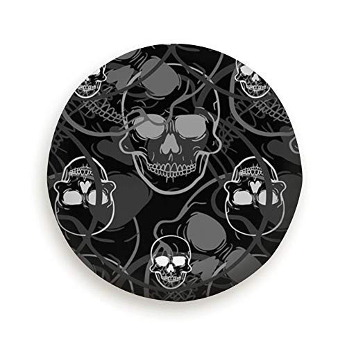 X-Large Spare Tire Cover Front View Human Skull Polyester Water Proof Dust-Proof Universal Spare Wheel Tire Cover Fit for Jeep,Trailer, Rv, SUV and Many Vehicle 15