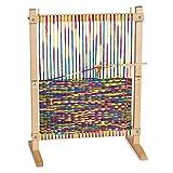 Melissa & Doug Wooden Multi-Craft Weaving Loom, Arts & Crafts, Extra-Large Frame, Develops Creativity and Motor Skills, 41.91 cm H x 57.785 cm W x 24.13 cm L