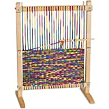 "Melissa & Doug Wooden Multi-Craft Weaving Loom, Arts & Crafts, Extra-Large Frame, Develops Creativity and Motor Skills, 16.5"" H x 22.75"" W x 9.5"" L"