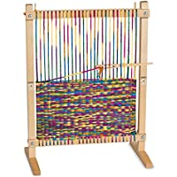 Melissa & Doug Wooden Multi-Craft Weaving Loom:...
