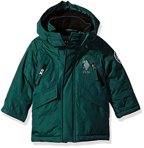 US Polo Association Toddler Boys' Outerwear Jacket (More Styles Available), UC09-Heavy-Park Green, - Polo Black Park Friday