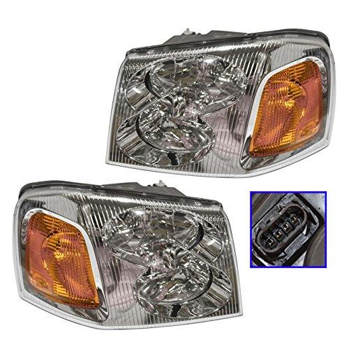New Left Headlamp Headlight (Headlights Headlamps Left & Right Pair Set for GMC Envoy)