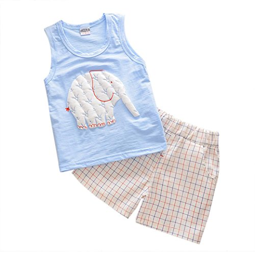 Baby Boys Girls Outfits, TRENDINAO Infant Toddler Kids Newborn Cartoon T-shirt + Pants Elephant Outfits Clothes