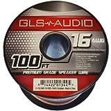 monster speaker wire 16 gauge - GLS Audio Premium 16 Gauge 100 Feet Speaker Wire - True 16AWG Speaker Cable 100ft Clear Jacket - High Quality 100' Spool Roll 16G 16/2 Bulk