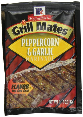 McCormick Grill Mates Peppercorn & Garlic Marinade, 1.13 oz (Case of - Bbq Brand Best Sauce