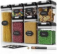 Chef's Path - Juego de recipientes herméticos para almacenamiento de alimentos, 7 unidades, 10 etiquetas d