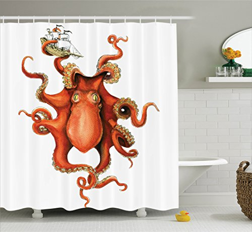 ambesonne-octopus-decor-collection-kraken-octopus-holding-sailing-ship-in-tentacles-mythical-monster