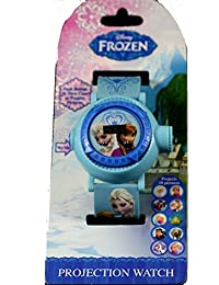 Disney Kids Frozen Elsa Anna Projection Digital Watch, Light-Blue