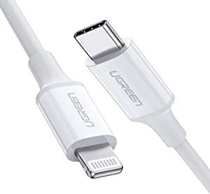 UGREEN USB-C to Lightning Cable [6FT MFi-Certified] Supports Power Delivery Fast Charging Sync with Type C PD Charger, Compatible for iPhone 12 Pro SE 11 Pro Max XR Xs Max Plus 8, AirPods, iPad