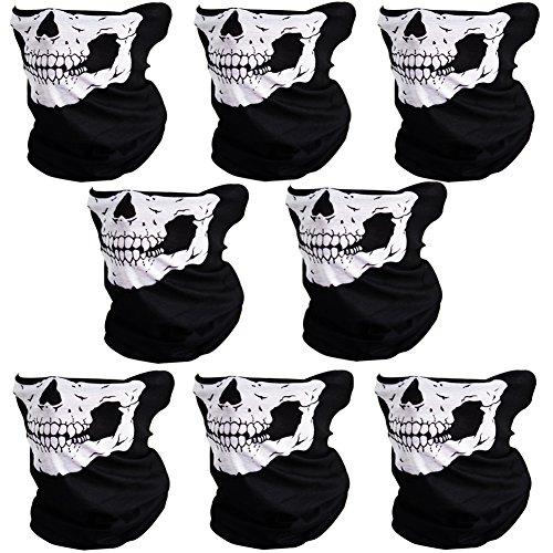 Skull Mask Halloween - CIKIShield 8pcs Couples Seamless Skull Face