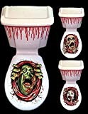Halloween toilet decoration - horror toilet and cistern scene setter add-on plastic decoration by APDavies