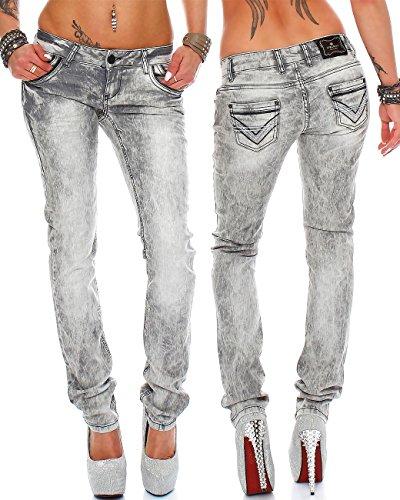 Cipo Baxx Grigio Attillata Donna Jeans amp; AAxqr4g